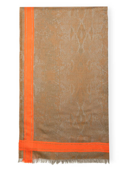 CODELLO Schal, Farbe: OLIV/ NEONORANGE (Bild 1)