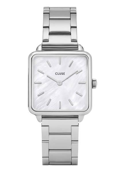 CLUSE Armbanduhr LA TÈTRAGONE, Farbe: SILBER/ CREME (Bild 1)