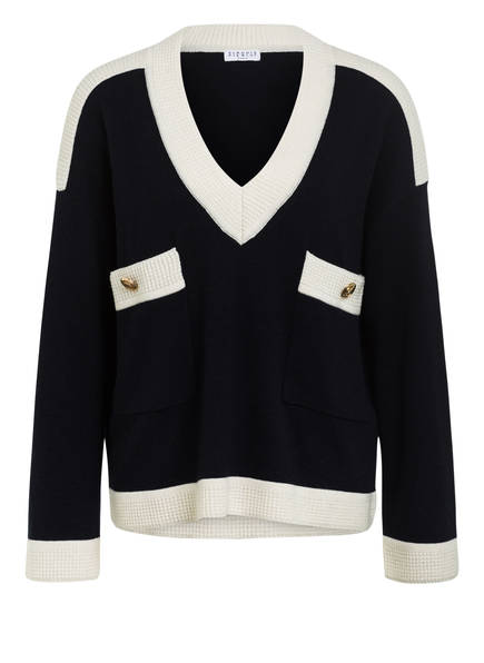 CLAUDIE PIERLOT Pullover MASCY, Farbe: DUNKELBLAU/ CREME (Bild 1)
