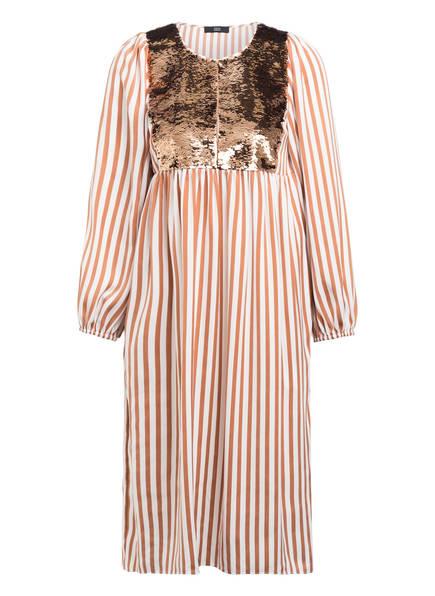 STEFFEN SCHRAUT Kleid, Farbe: HELLBRAUN/ WEISS GESTREIFT (Bild 1)