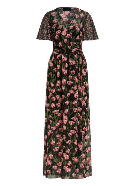 Phase Eight Kleid VALENTINA, Farbe: SCHWARZ/ GRÜN/ DUNKELROT (Bild 1)