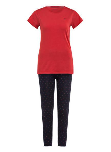 TOMMY HILFIGER Schlafanzug, Farbe: HELLROT/ DUNKELBLAU (Bild 1)