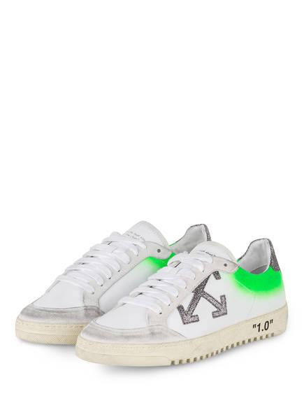OFF-WHITE Sneaker ARROW 2.0, Farbe: WEISS/ NEONGRÜN (Bild 1)