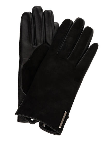 TED BAKER Lederhandschuhe SOFIE mit Touchscreen-Funktion, Farbe: SCHWARZ (Bild 1)