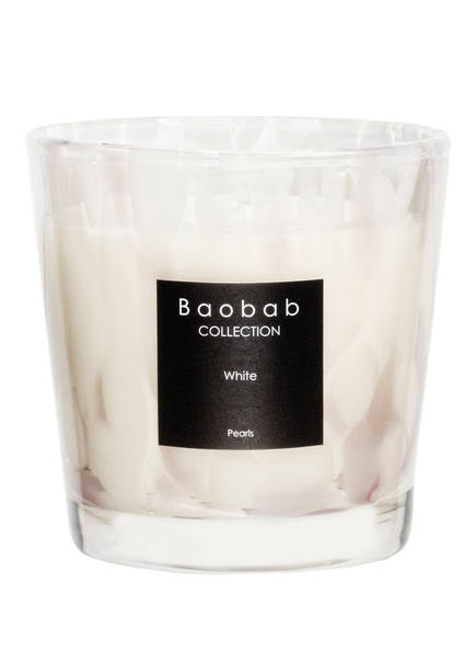 Baobab COLLECTION Duftkerze WHITE PEARLS, Farbe: WEISS/ ROSE (Bild 1)
