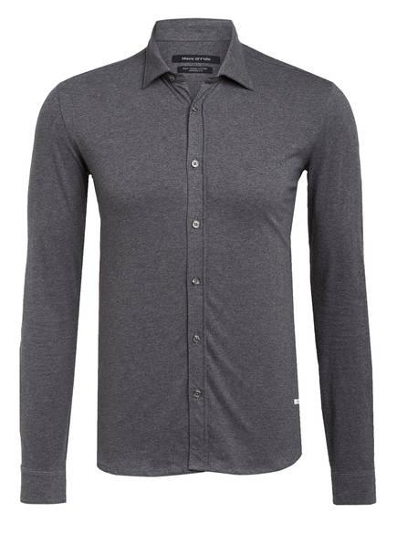 Marc O'Polo Jersey-Hemd Shaped Fit, Farbe: GRAU MELIERT (Bild 1)