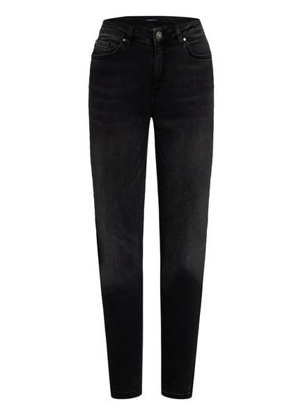 ONE MORE STORY Skinny Jeans mit Galonstreifen, Farbe: SCHWARZ (Bild 1)