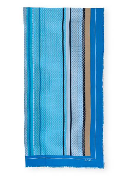 BOSS Schal LORE, Farbe: HELLBLAU/ BLAU/ BEIGE (Bild 1)