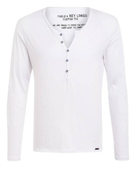 KEY LARGO Henley-Shirt GINGER, Farbe: WEISS (Bild 1)