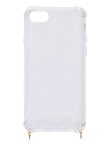 CHEEKY CHAIN MUNICH Smartphone-Hülle, Farbe: TRANSPARENT/ GOLD (Bild 1)