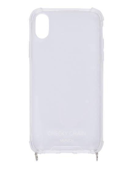 CHEEKY CHAIN MUNICH Smartphone-Hülle , Farbe: TRANSPARENT/ SILBER (Bild 1)
