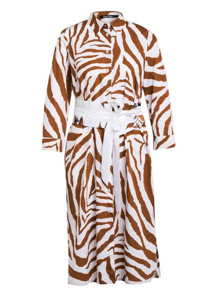 MARC AUREL Hemdblusenkleid mit 3/4-Arm, Farbe: WEISS/ BRAUN (Bild 1)