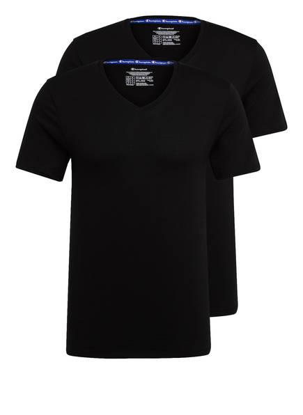Champion 2er-Pack V-Shirt schwarz