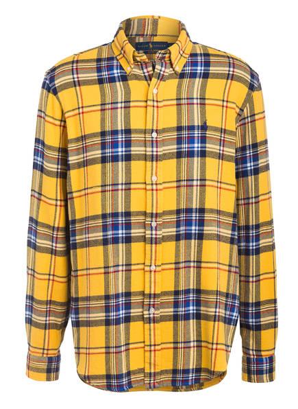 POLO RALPH LAUREN Flanellhemd Custom Fit, Farbe: GELB/ DUNKELBLAU/ ROT (Bild 1)