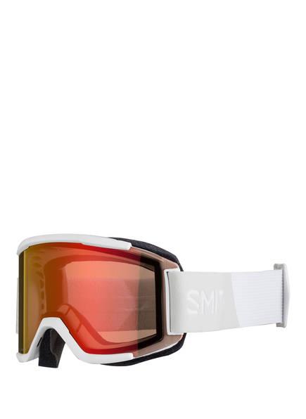 SMITH Skibrille SQUAD mit Wechselglas, Farbe: WEISS/ ORANGE (Bild 1)