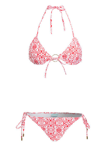 MELISSA ODABASH Triangel-Bikini MIAMI, Farbe: ROT/ WEISS (Bild 1)