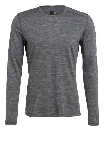 icebreaker Funktionswäsche-Shirt 200 OASIS , Farbe: GRAU MELIERT (Bild 1)