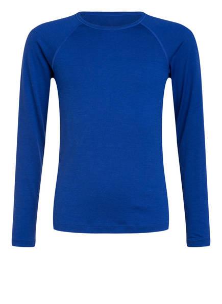 icebreaker Funktionswäsche-Shirt 200 OASIS aus Merinowolle, Farbe: BLAU (Bild 1)