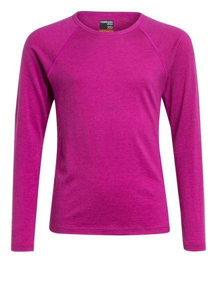icebreaker Funktionswäsche-Shirt 200 OASIS aus Merinowolle, Farbe: LILA (Bild 1)