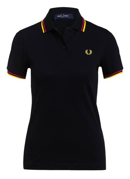 FRED PERRY Piqué-Poloshirt , Farbe: SCHWARZ (Bild 1)