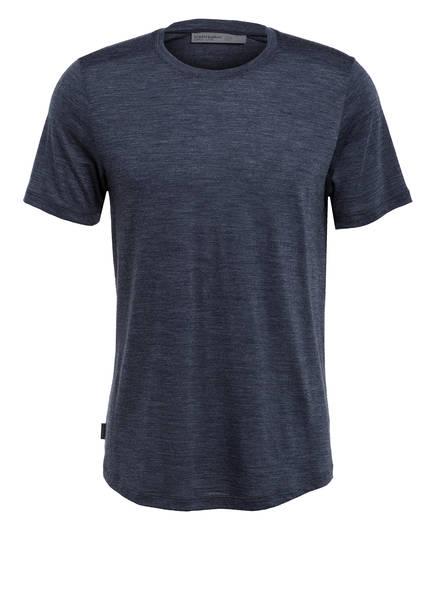 icebreaker T-Shirt SPHERE mit Merinowolle-Anteil , Farbe: BLAUGRAU MELIERT (Bild 1)