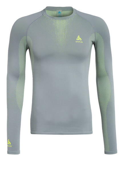 odlo Funktionswäsche-Shirt PERFORMANCE WARM, Farbe: GRAU/ GELB (Bild 1)