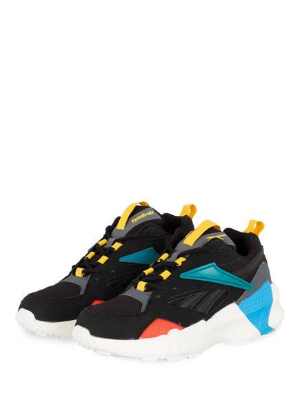Reebok Sneaker AZTREK DOUBLE, Farbe: SCHWARZ/ ORANGE/ TÜRKIS (Bild 1)