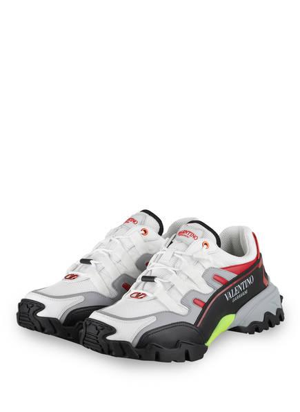 VALENTINO GARAVANI Sneaker CLIMBERS, Farbe: WEISS/ GRAU/ ROT (Bild 1)