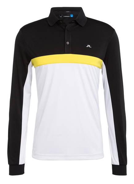 J.LINDEBERG Funktions-Poloshirt Slim Fit, Farbe: SCHWARZ/ WEISS/ GELB (Bild 1)