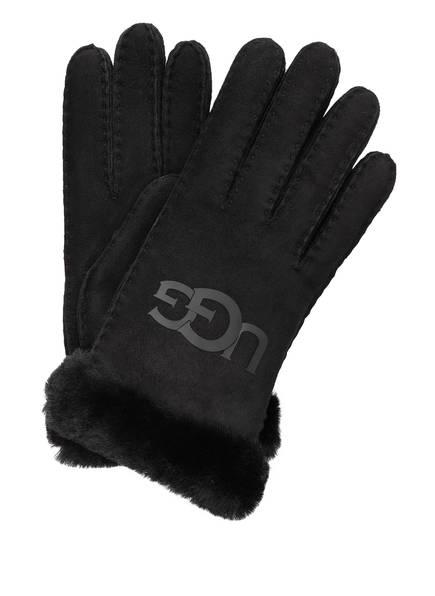 UGG Lederhandschuhe, Farbe: SCHWARZ (Bild 1)