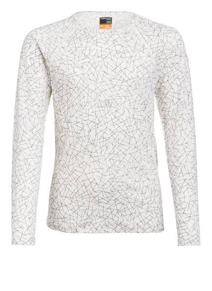icebreaker Funktionswäsche-Shirt 200 OASIS, Farbe: ECRU/ SCHWARZ (Bild 1)
