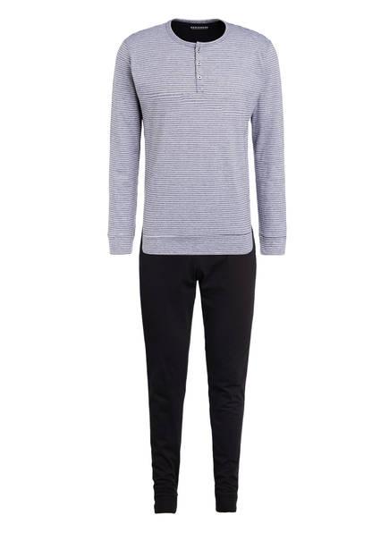 SCHIESSER Schlafanzug, Farbe: DUNKELGRAU/ WEISS/ SCHWARZ (Bild 1)