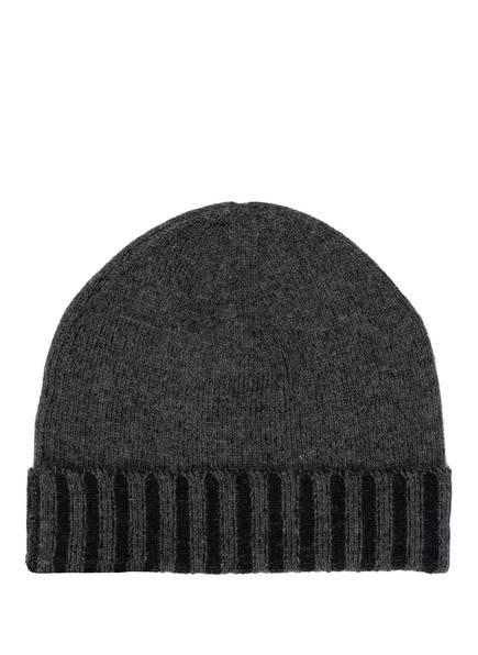 CHAS Cashmere-Mütze, Farbe: DUNKELGRAU/ SCHWARZ (Bild 1)