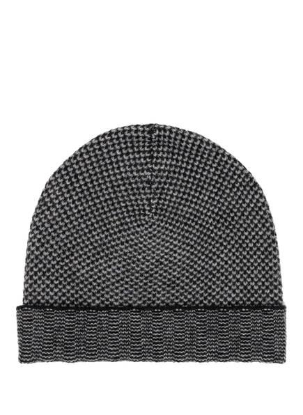 CHAS Cashmere-Mütze, Farbe: SCHWARZ/ GRAU (Bild 1)