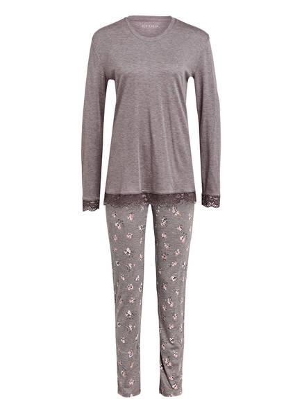 SCHIESSER Schlafanzug, Farbe: TAUPE MELIERT (Bild 1)