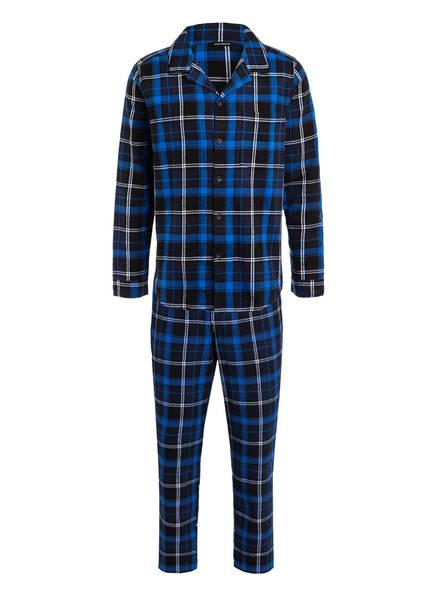 SCHIESSER Schlafanzug, Farbe: BLAU/ SCHWARZ KARIERT (Bild 1)