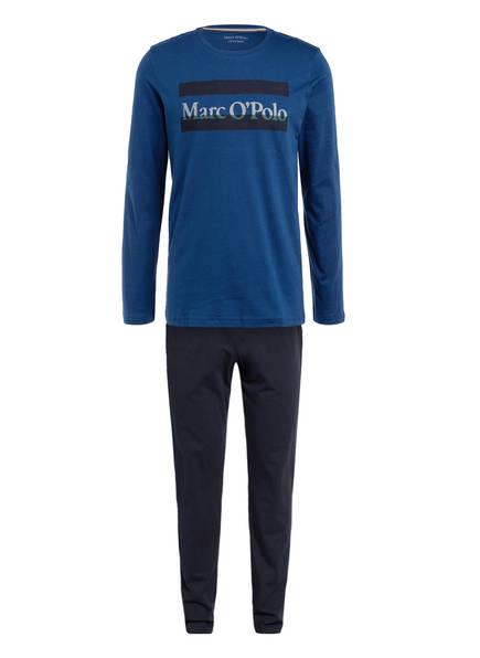 Marc O'Polo Schlafanzug, Farbe: DUNKELBLAU (Bild 1)