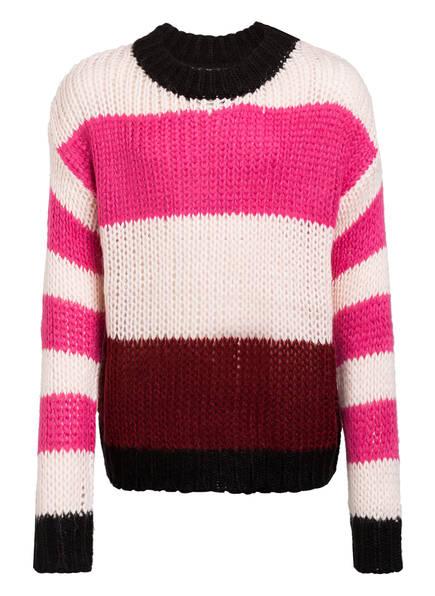 name it Oversized-Pullover, Farbe: FUCHSIA/ HELLROSA/ PINK GESTREIFT (Bild 1)
