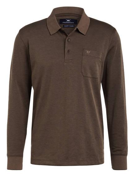 STROKESMAN'S Piqué-Poloshirt , Farbe: HELLBRAUN (Bild 1)