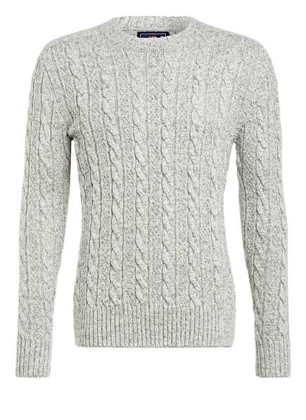 Superdry Pullover JACOB, Farbe: HELLGRAU/ WEISS (Bild 1)