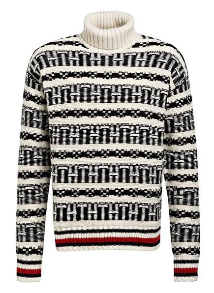TOMMY HILFIGER Norweger Pullover, Farbe: CREME/ SCHWARZ/ ROT (Bild 1)