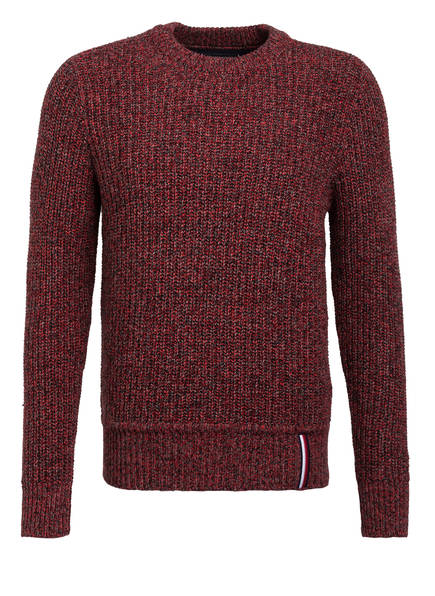 TOMMY HILFIGER Pullover , Farbe: ROT MELIERT (Bild 1)