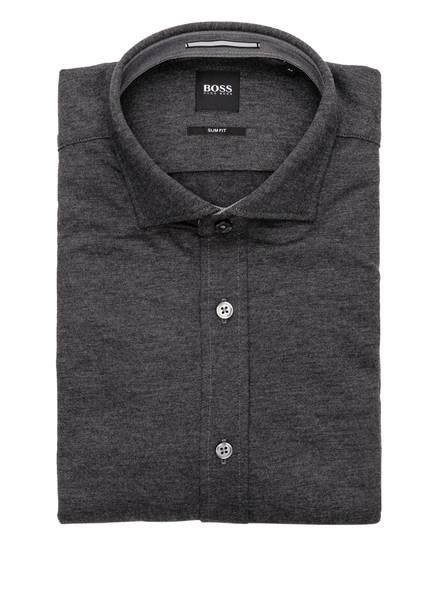 BOSS Jerseyhemd RIDLEY Slim Fit, Farbe: DUNKELGRAU (Bild 1)