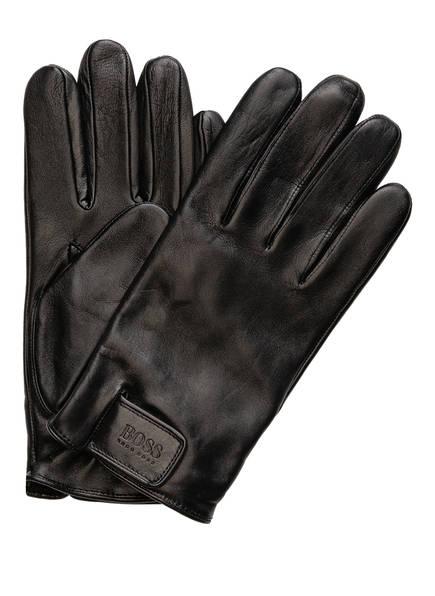BOSS Lederhandschuhe HELKOP, Farbe: SCHWARZ (Bild 1)