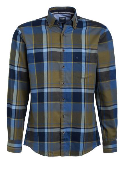 OLYMP Hemd Casual modern fit, Farbe: BLAU/ OLIV KARIERT (Bild 1)