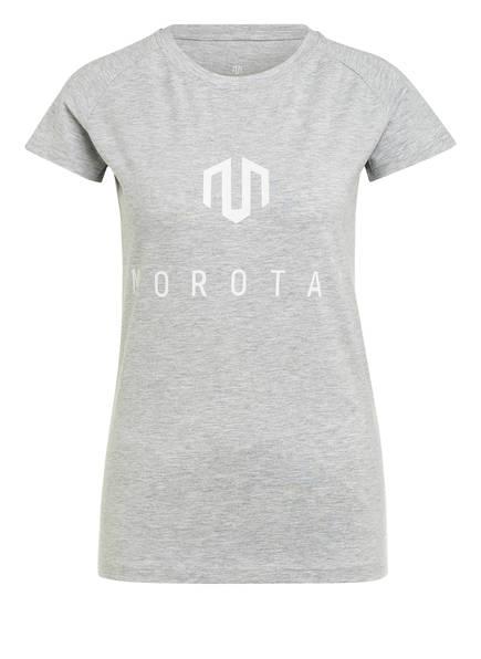 MOROTAI T-Shirt PREMIUM BASIC BRAND, Farbe: HELLGRAU MELIERT (Bild 1)