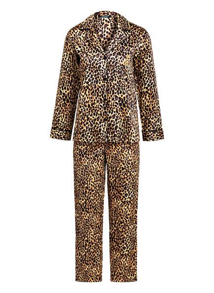 LAUREN RALPH LAUREN Schlafanzug, Farbe: BEIGE/ BRAUN/ SCHWARZ (Bild 1)