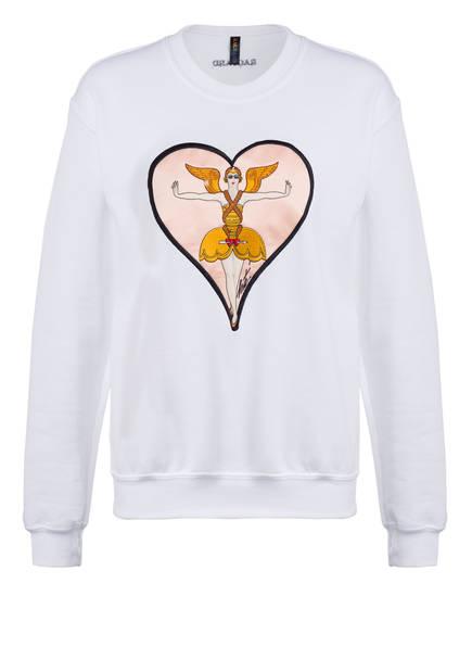 RAGYARD Sweatshirt ERTE HEART APPLIQUE , Farbe: WEISS (Bild 1)