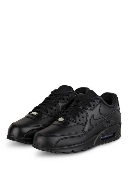 Nike Sneaker AIR MAX 90 LEATHER, Farbe: SCHWARZ (Bild 1)