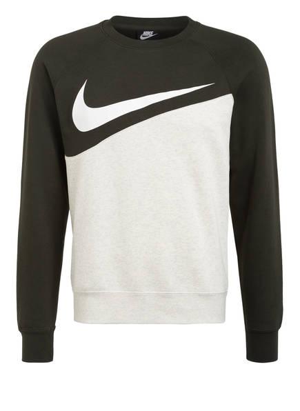 Nike Sweatshirt SWOOSH CREW , Farbe: DUNKELGRÜN/ HELLGRAU (Bild 1)